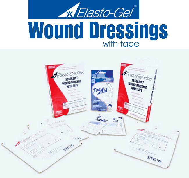 wound care with tape a
